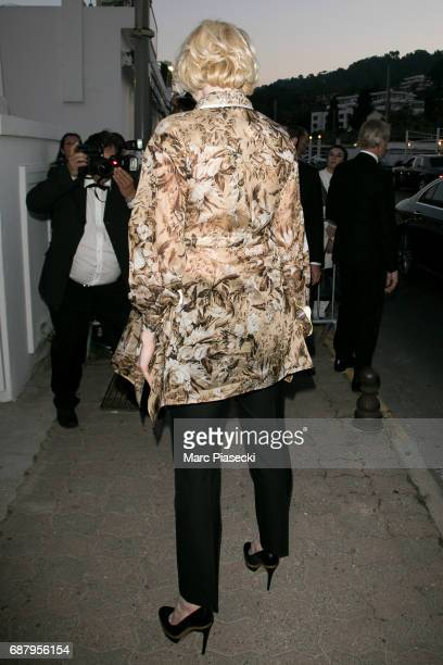 Actress Gwendoline Christie is seen during the 70th annual Cannes Film Festival at the 'Vanity Fair CHANEL' dinner at Tetou restaurant on May 24 2017...