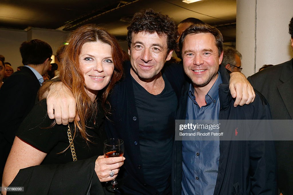 Actress Gwendoline Hamon (L), actors from 'Le Prenom' <a gi-track='captionPersonalityLinkClicked' href=/galleries/search?phrase=Patrick+Bruel&family=editorial&specificpeople=549816 ng-click='$event.stopPropagation()'>Patrick Bruel</a> (C) and Guillaume de Tonquedec (R) backstage after <a gi-track='captionPersonalityLinkClicked' href=/galleries/search?phrase=Patrick+Bruel&family=editorial&specificpeople=549816 ng-click='$event.stopPropagation()'>Patrick Bruel</a>'s last concert in Paris, held at Palais Omnisports de Bercy on June 22, 2013 in Paris, France.