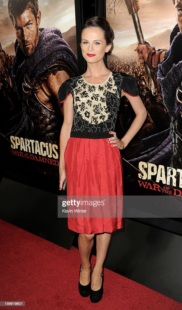 Actress Gwendoline Taylor arrives at the premiere of Starz's 'Spartacus: War Of The Damned' at the Regal Cinemas L.A. Live on January 22, 2013 in Los Angeles, California.