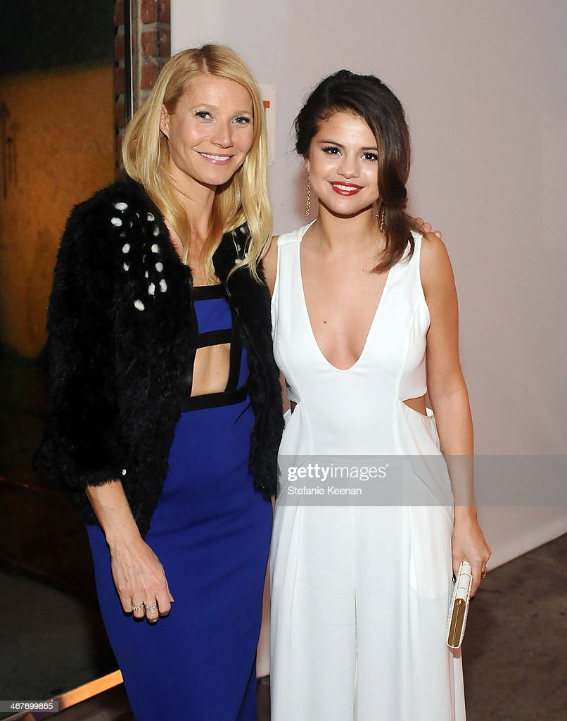 Actress Gwyneth Paltrow and actresssinger Selena Gomez attend Hollywood Stands Up To Cancer Event with contributors American Cancer Society and...