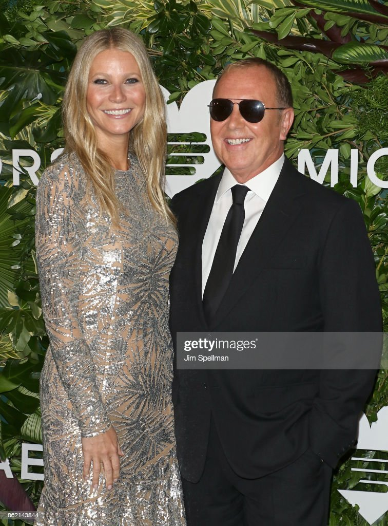 Actress Gwyneth Paltrow and designer Michael Kors attend the 11th Annual God's Love We Deliver Golden Heart Awards at Spring Studios on October 16, 2017 in New York City.