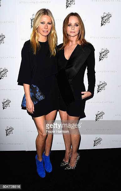 Actress Gwyneth Paltrow and designer Stella McCartney attend Stella McCartney Autumn 2016 Presentation at Amoeba Music on January 12 2016 in Los...