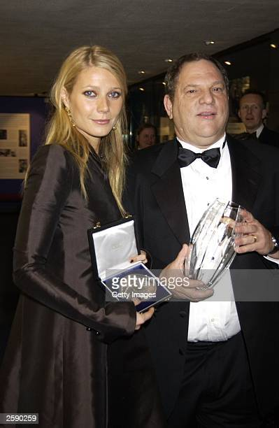 Actress Gwyneth Paltrow and Harvey Weinstein at the 50th Anniversary Gala of the National Film Theatre on October 20 2002 at The National Film...