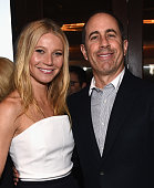 Actress Gwyneth Paltrow and host Jerry Seinfeld attend the Inaugural Los Angeles Fatherhood Lunch to Benefit Baby Buggy hosted by Jerry Seinfeld at...