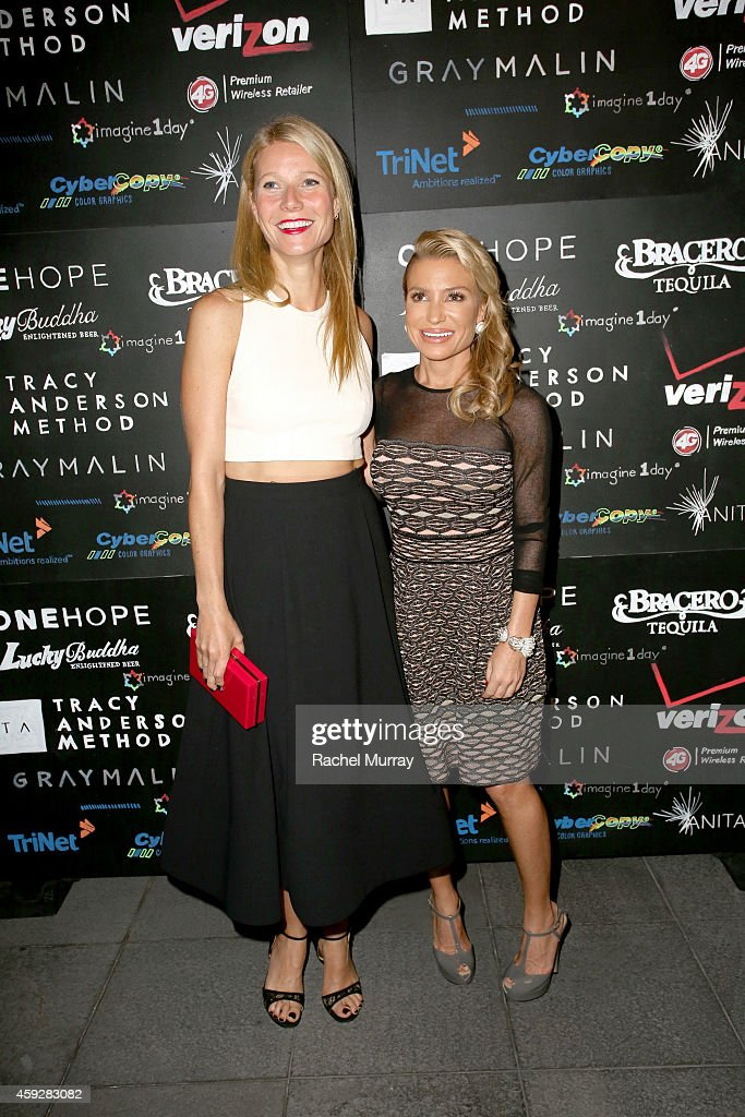 Actress Gwyneth Paltrow and Imagine1day Leadership Awards Honoree Tracy Anderson attend the Imagine1day Annual Gala Honoring Tracy Anderson at SLS...