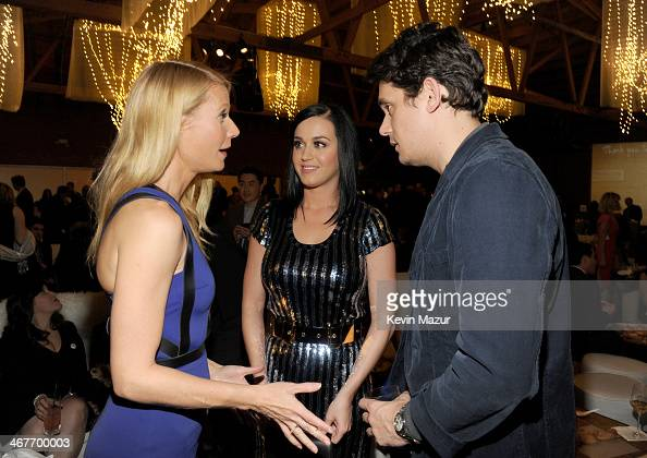 Actress Gwyneth Paltrow and recording artists Katy Perry and John Mayer attend Hollywood Stands Up To Cancer Event with contributors American Cancer...