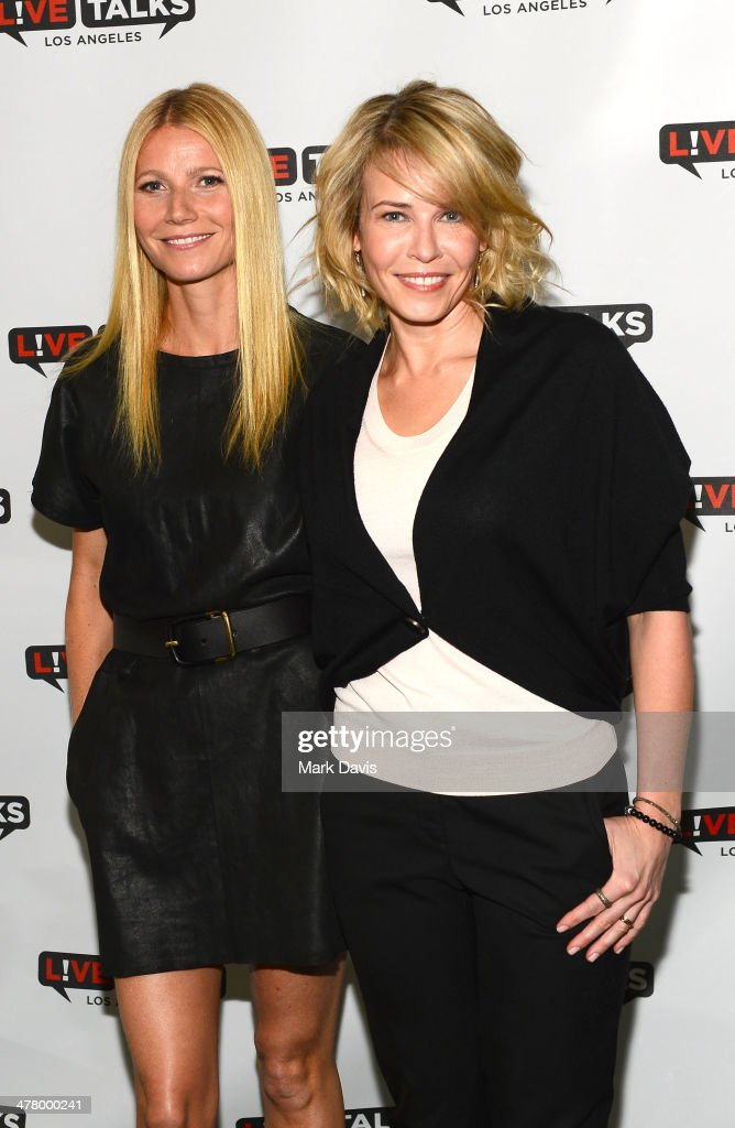 Actress <a gi-track='captionPersonalityLinkClicked' href=/galleries/search?phrase=Gwyneth+Paltrow&family=editorial&specificpeople=171431 ng-click='$event.stopPropagation()'>Gwyneth Paltrow</a> and television host <a gi-track='captionPersonalityLinkClicked' href=/galleries/search?phrase=Chelsea+Handler&family=editorial&specificpeople=599162 ng-click='$event.stopPropagation()'>Chelsea Handler</a> pose at the 'Live Talks Los Angeles Presents An Evening With <a gi-track='captionPersonalityLinkClicked' href=/galleries/search?phrase=Chelsea+Handler&family=editorial&specificpeople=599162 ng-click='$event.stopPropagation()'>Chelsea Handler</a> In Conversation With <a gi-track='captionPersonalityLinkClicked' href=/galleries/search?phrase=Gwyneth+Paltrow&family=editorial&specificpeople=171431 ng-click='$event.stopPropagation()'>Gwyneth Paltrow</a>' held at the Alex Theatre on March 11, 2014 in Glendale, California.
