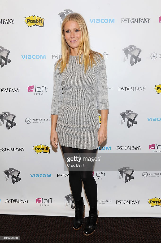 Actress Gwyneth Paltrow appears during 'The Business Of Goop With Gwyneth Paltrow And Lisa Gersh, CEO Of Goop, Moderated By Yahoo's Katie Couric' at The Fast Company Innovation Festival on November 10, 2015 in New York City.
