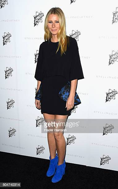Actress Gwyneth Paltrow arrives at Stella McCartney Autumn 2016 Presentation at Amoeba Music on January 12 2016 in Los Angeles California