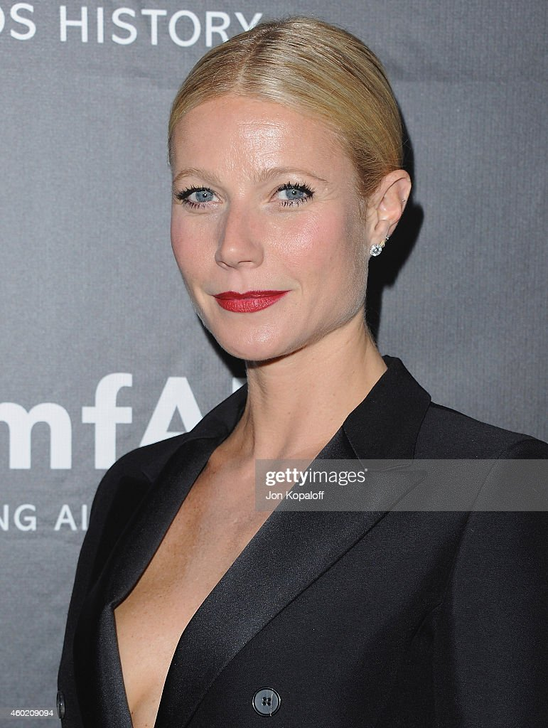 Actress Gwyneth Paltrow arrives at the 2014 amfAR LA Inspiration Gala at Milk Studios on October 29 2014 in Hollywood California