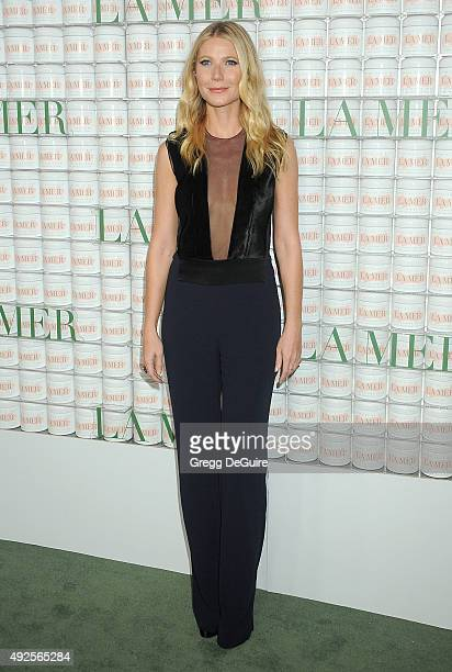 Actress Gwyneth Paltrow arrives at the La Mer Celebrates 50 Years Of An Icon at Siren Studios on October 13 2015 in Hollywood California
