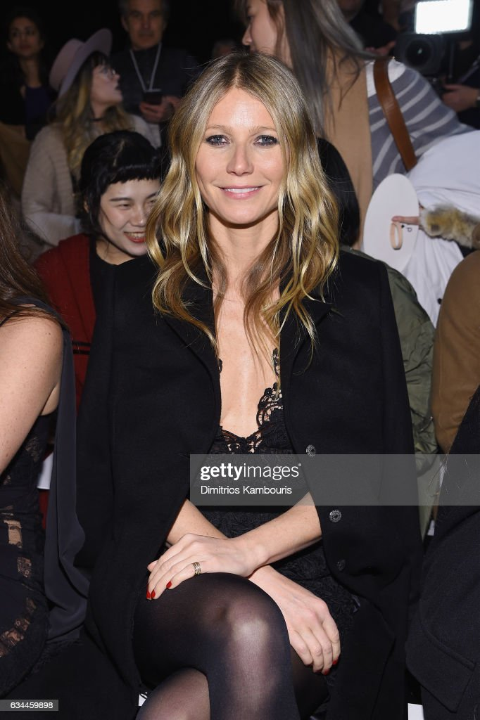 Actress Gwyneth Paltrow attends a front row during La Perla Fall/Winter 2017 RTW Show at SIR Stage 37 on February 9, 2017 in New York City.