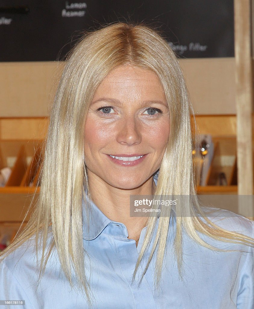 Actress Gwyneth Paltrow attends a signing for her new book 'It's All Good' at Williams-Sonoma on April 9, 2013 in New York City.