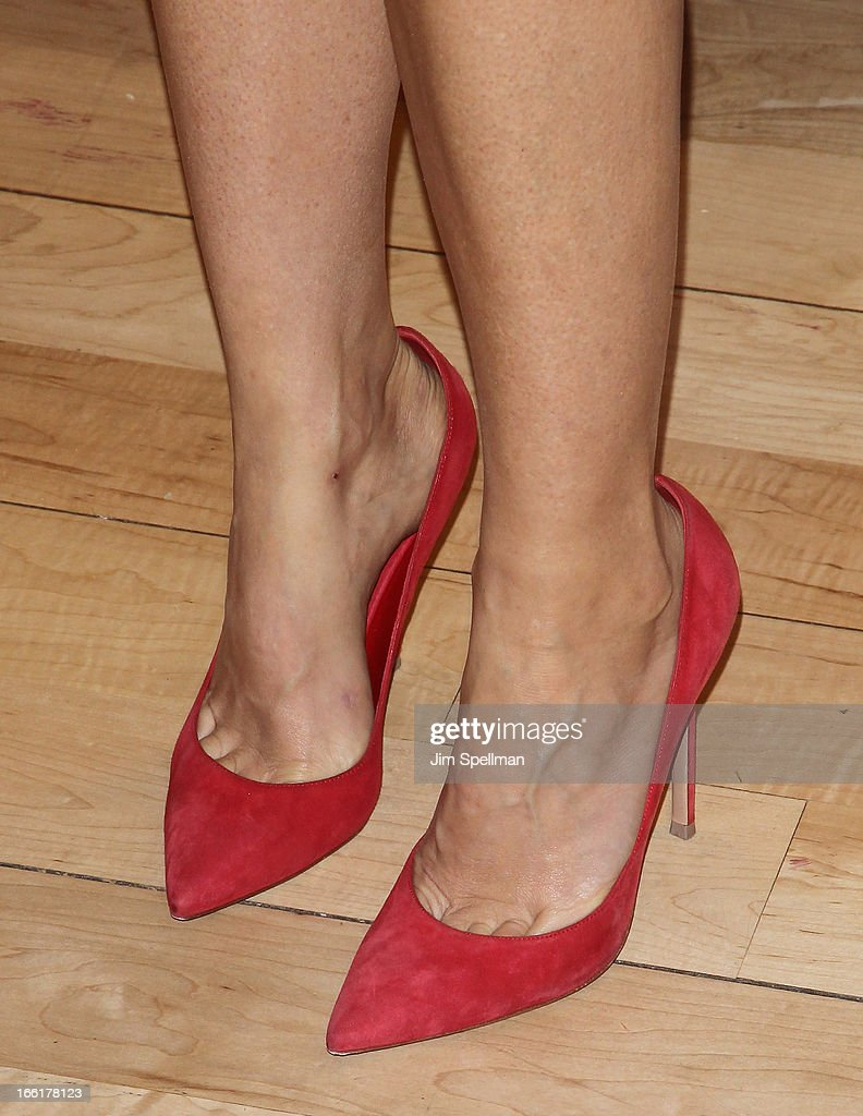 Actress <a gi-track='captionPersonalityLinkClicked' href=/galleries/search?phrase=Gwyneth+Paltrow&family=editorial&specificpeople=171431 ng-click='$event.stopPropagation()'>Gwyneth Paltrow</a> (shoe detail) attends a signing for her new book 'It's All Good' at Williams-Sonoma on April 9, 2013 in New York City.
