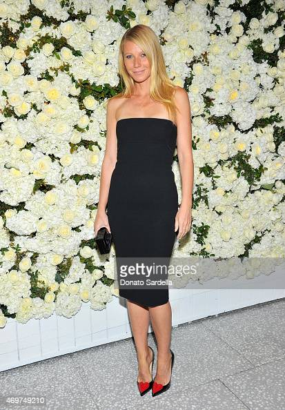 Actress Gwyneth Paltrow attends David And Victoria Beckham Along With Barneys New York Host A Dinner To Celebrate The Victoria Beckham Collection at...