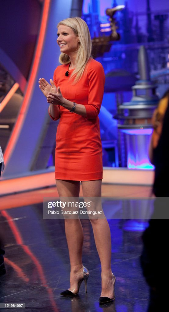 Actress Gwyneth Paltrow attends 'El Hormiguero' Tv Show at Vertice Studios on October 29, 2012 in Madrid, Spain.