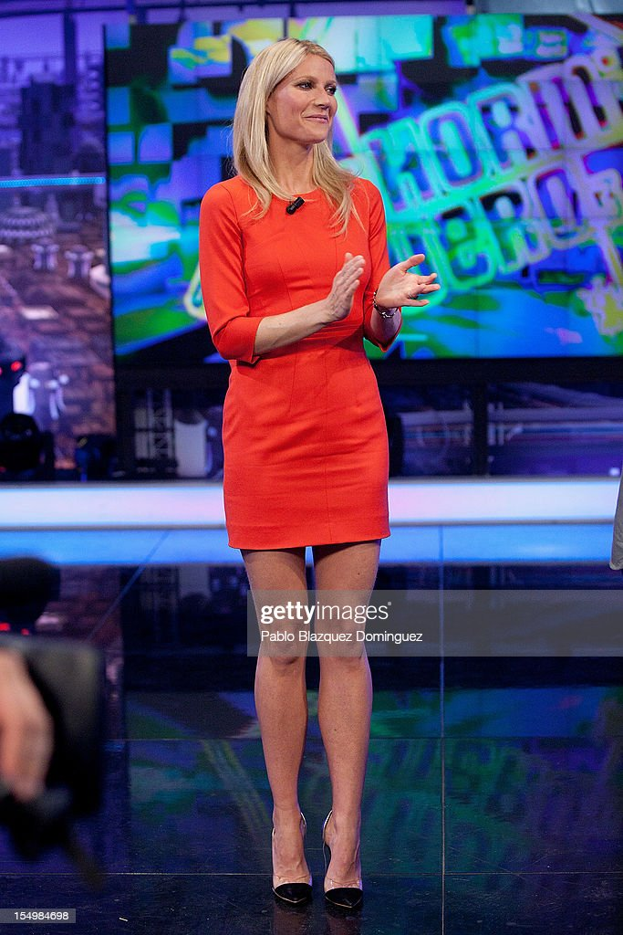 Actress <a gi-track='captionPersonalityLinkClicked' href=/galleries/search?phrase=Gwyneth+Paltrow&family=editorial&specificpeople=171431 ng-click='$event.stopPropagation()'>Gwyneth Paltrow</a> attends 'El Hormiguero' Tv Show at Vertice Studios on October 29, 2012 in Madrid, Spain.
