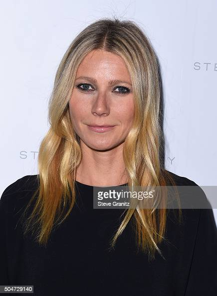 Actress Gwyneth Paltrow attends Stella McCartney Autumn 2016 Presentation at Amoeba Music on January 12 2016 in Los Angeles California