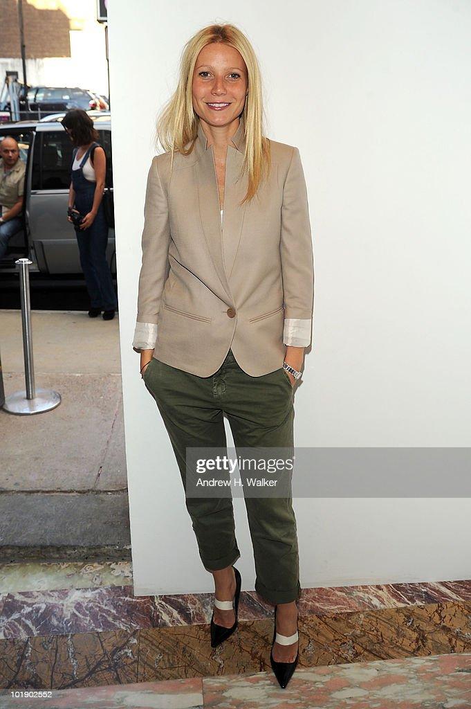 Actress Gwyneth Paltrow attends Stella McCartney Spring 2011 Presentation at Gavin Brown's Enterprise on June 8 2010 in New York City