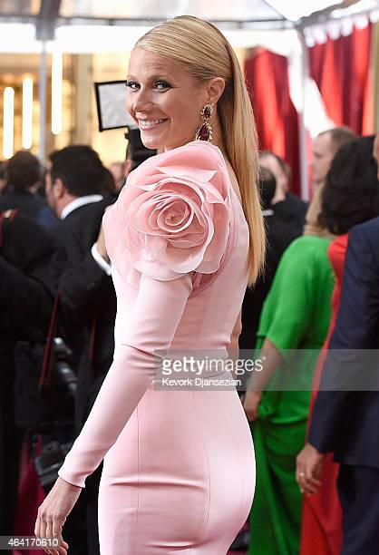 Actress Gwyneth Paltrow attends the 87th Annual Academy Awards at Hollywood Highland Center on February 22 2015 in Hollywood California