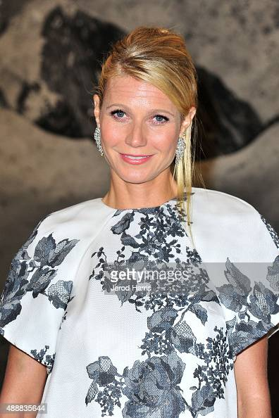 Actress Gwyneth Paltrow attends The Broad Museum Black Tie Inaugural Dinner at The Broad on September 17 2015 in Los Angeles California