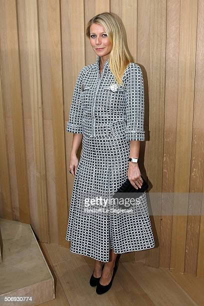 Actress Gwyneth Paltrow attends the Chanel Spring Summer 2016 show as part of Paris Fashion Week on January 26 2016 in Paris France