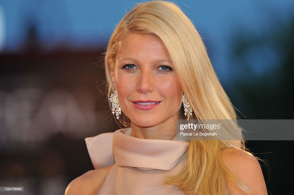 Actress <a gi-track='captionPersonalityLinkClicked' href=/galleries/search?phrase=Gwyneth+Paltrow&family=editorial&specificpeople=171431 ng-click='$event.stopPropagation()'>Gwyneth Paltrow</a> (Earring Detail) attends the 'Contagion' premiere during the 68th Venice Film Festival at Palazzo del Cinema on September 3, 2011 in Venice, Italy.