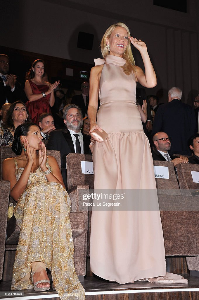 Actress <a gi-track='captionPersonalityLinkClicked' href=/galleries/search?phrase=Gwyneth+Paltrow&family=editorial&specificpeople=171431 ng-click='$event.stopPropagation()'>Gwyneth Paltrow</a> attends the 'Contagion' premiere during the 68th Venice Film Festival at Palazzo del Cinema on September 3, 2011 in Venice, Italy.