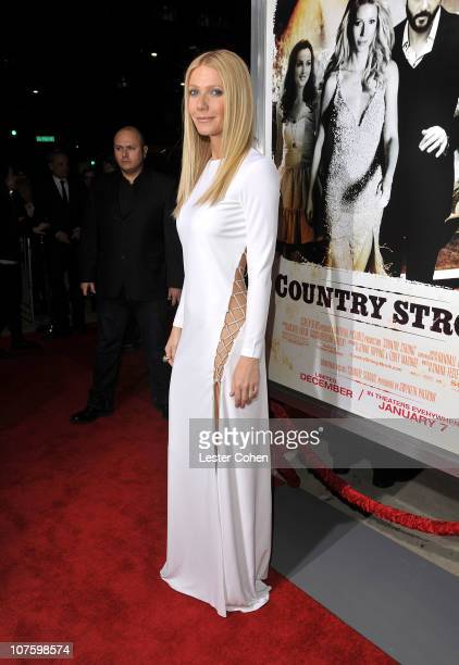 Actress Gwyneth Paltrow attends the 'Country Strong' Los Angeles Special Screening at the Academy of Motion Picture Arts and Sciences on December 14...