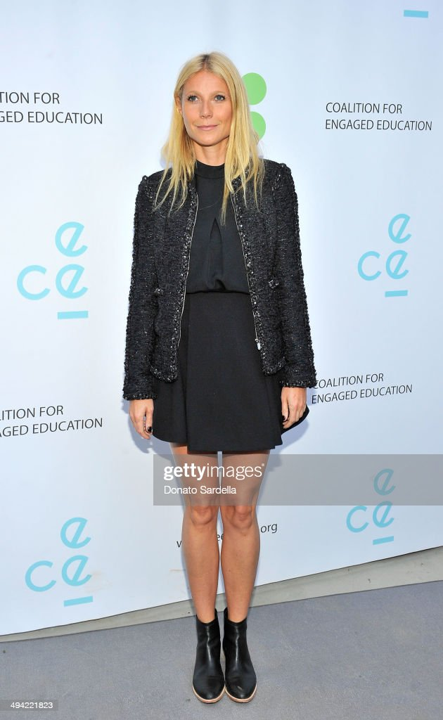 Actress <a gi-track='captionPersonalityLinkClicked' href=/galleries/search?phrase=Gwyneth+Paltrow&family=editorial&specificpeople=171431 ng-click='$event.stopPropagation()'>Gwyneth Paltrow</a> attends the first annual Poetic Justice Fundraiser for the Coalition For Engaged Education at the Herb Alpert Educational Village on May 28, 2014 in Santa Monica, California.