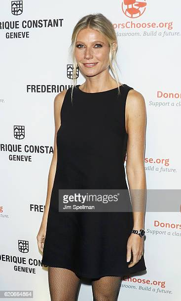 Actress Gwyneth Paltrow attends the Frederique Constant Horological Smartwatch launch at Spring Studios on November 2 2016 in New York City