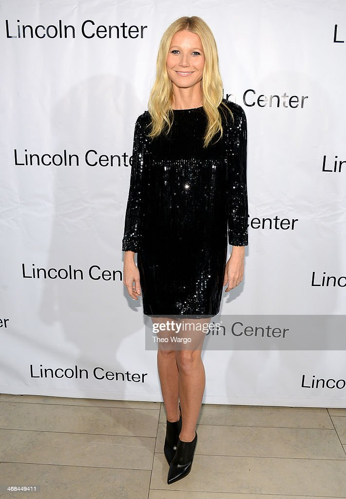 Actress Gwyneth Paltrow attends the Great American Songbook event honoring Bryan Lourd at Alice Tully Hall on February 10 2014 in New York City