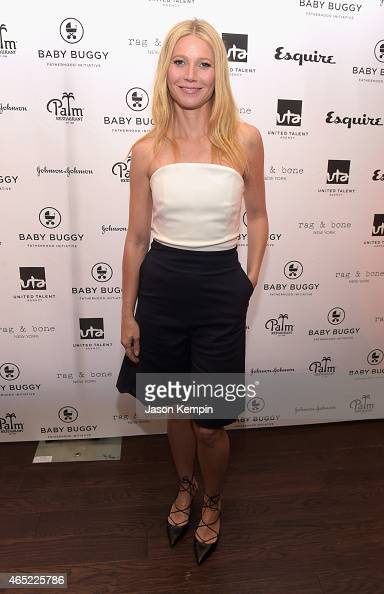 Actress Gwyneth Paltrow attends the Inaugural Los Angeles Fatherhood Lunch to Benefit Baby Buggy hosted by Jerry Seinfeld at The Palm Restaurant on...