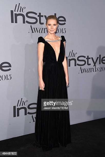 Actress Gwyneth Paltrow attends the InStyle Awards at Getty Center on October 26 2015 in Los Angeles California