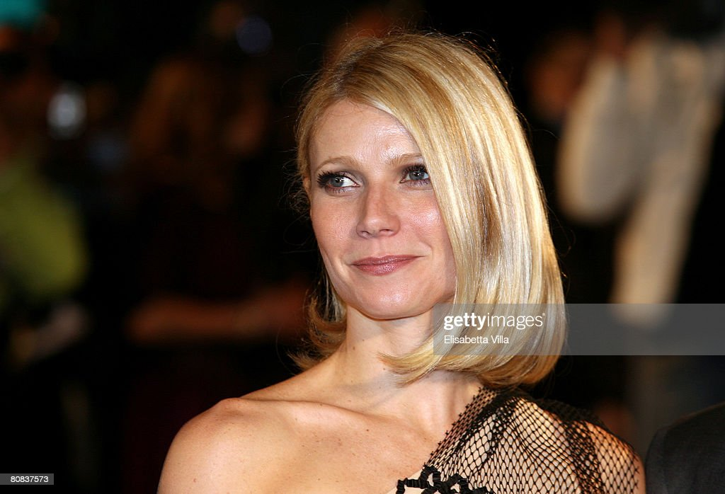 S actress Gwyneth Paltrow attends the 'Iron Man' premiere at Warner Moderno Cinema on April 23 2008 in Rome Italy