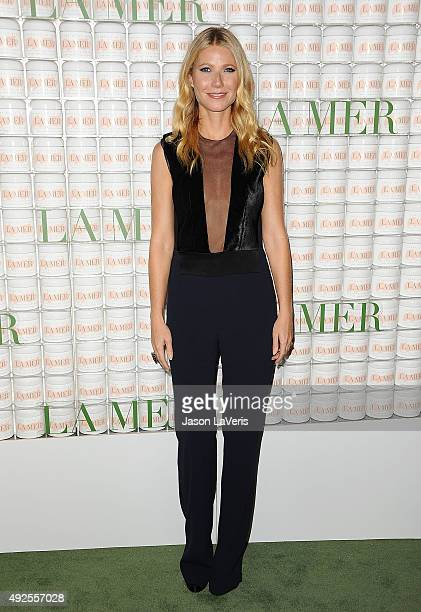 Actress Gwyneth Paltrow attends the La Mer celebration of an Icon event at Siren Studios on October 13 2015 in Hollywood California