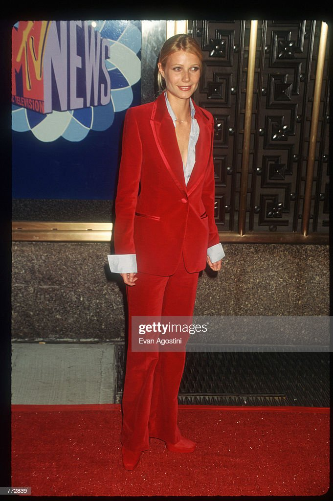 Actress Gwyneth Paltrow attends the MTV Video Music Awards September 4 1996 in New York City The awards honored music videos produced by popular...