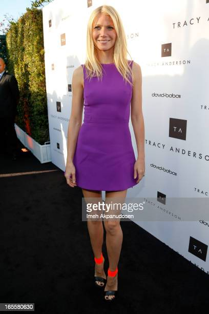 Actress Gwyneth Paltrow attends the opening of Tracy Anderson flagship studio at Tracy Anderson Flagship Studio on April 4 2013 in Brentwood...