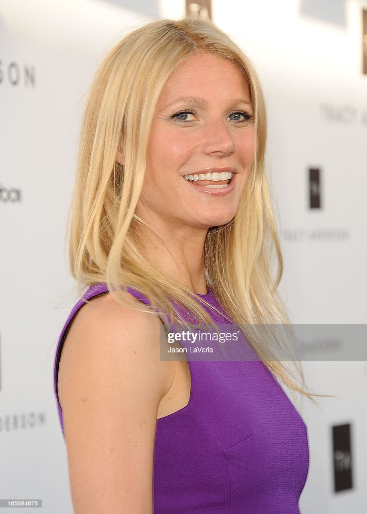 Actress <a gi-track='captionPersonalityLinkClicked' href=/galleries/search?phrase=Gwyneth+Paltrow&family=editorial&specificpeople=171431 ng-click='$event.stopPropagation()'>Gwyneth Paltrow</a> attends the opening of Tracy Anderson Flagship Studio on April 4, 2013 in Brentwood, California.