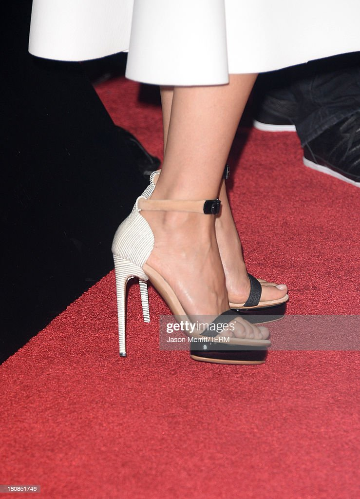Actress Gwyneth Paltrow (shoe detail) attends the premiere of Roadside Attractions' 'Thanks For Sharing' at ArcLight Cinemas on September 16, 2013 in Hollywood, California.