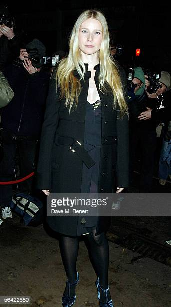 Actress Gwyneth Paltrow attends the screening of her favorite film 'Annie Hall' at The Electric Cinema on December 12 2005 in London England