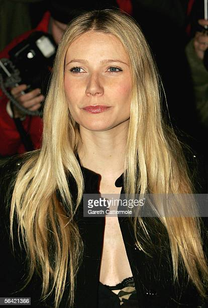 Actress Gwyneth Paltrow attends the screening of her favourite film 'Annie Hall' at The Electric Cinema on December 12 2005 in London England