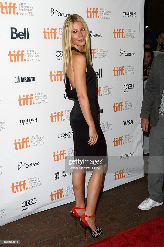 Actress Gwyneth Paltrow attends the 'Thanks For Sharing' premiere during the 2012 Toronto International Film Festival at Ryerson Theatre on September 8, 2012 in Toronto, Canada.