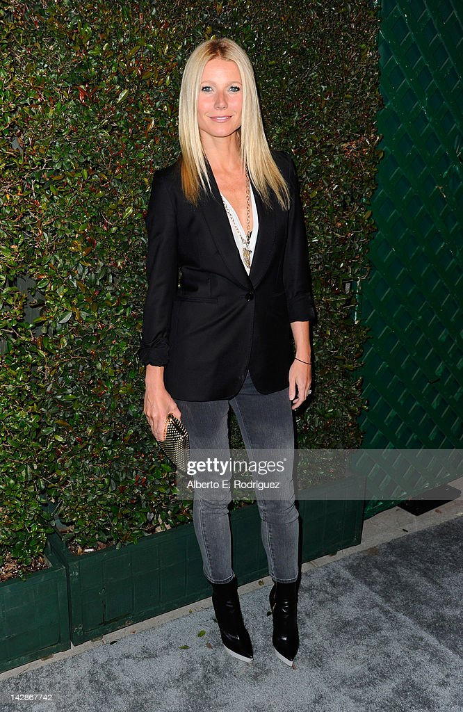 Actress Gwyneth Paltrow attends the world premiere of 'My Valentine' video hosted by Paul McCartney and Stella McCartney on April 13 2012 in West...