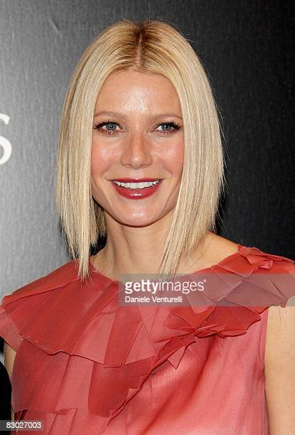 Actress Gwyneth Paltrow attends TOD'S Private Dinner hosted by Gwyneth Paltrow and Diego della Valle during Milan fashion Week Spring/Summer 2009 on...