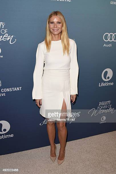Actress Gwyneth Paltrow attends Variety's Power Of Women Luncheon at the Beverly Wilshire Four Seasons Hotel on October 9 2015 in Beverly Hills...