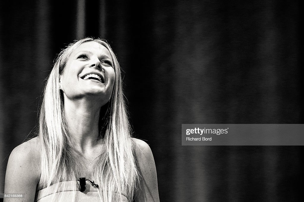 Actress Gwyneth Paltrow is interviewed by Stephen Sackur during a special live-recording 'Hard Talk' hosted by BBC World News during The Cannes Lions Festival 2016 on June 22, 2016 in Cannes, France.
