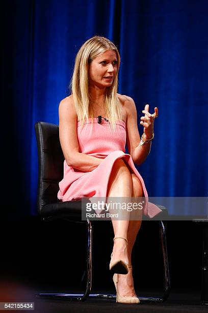 Actress Gwyneth Paltrow is interviewed by Stephen Sackur during a special liverecording 'Hard Talk' hosted by BBC World News during The Cannes Lions...