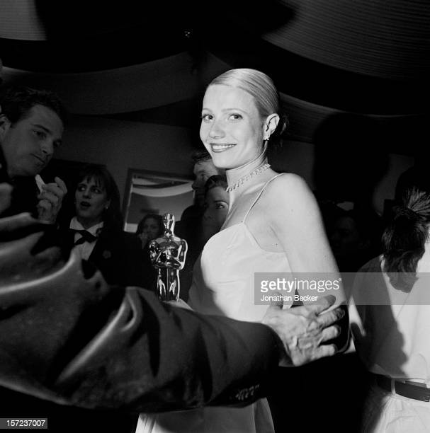 Actress Gwyneth Paltrow is photographed for Vanity Fair Magazine on March 21 1999 at the Vanity Fair Oscar Party at Morton's in West Hollywood...