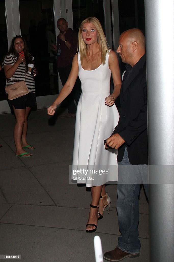 Actress <a gi-track='captionPersonalityLinkClicked' href=/galleries/search?phrase=Gwyneth+Paltrow&family=editorial&specificpeople=171431 ng-click='$event.stopPropagation()'>Gwyneth Paltrow</a> is seen on September 16, 2013 in Los Angeles, California.